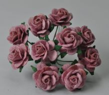 1.5cm LIGHT DUSTY PINK Mulberry Paper Roses